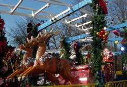 Santa Roller Coaster Champs Elysees Christmas Market